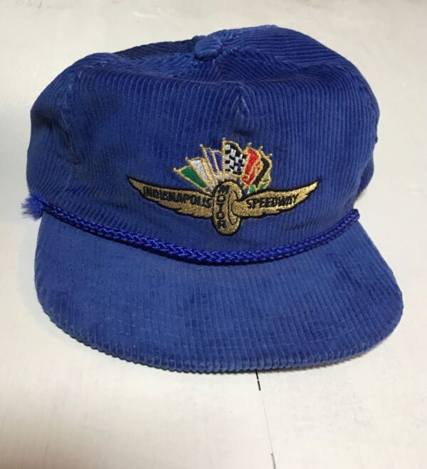 product details: VINTAGE EMBROIDERED CORDUROY INDIANAPOLIS MOTOR SPEEDWAY SNAPBACK HAT photo