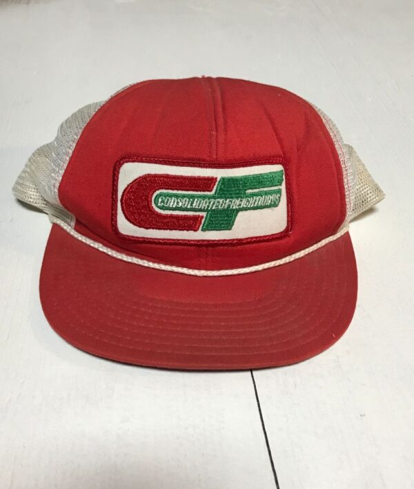 product details: CONSOLIDATED FREIGHTWAYS SNAPBACK MESH TRUCKER HAT AS-IS photo