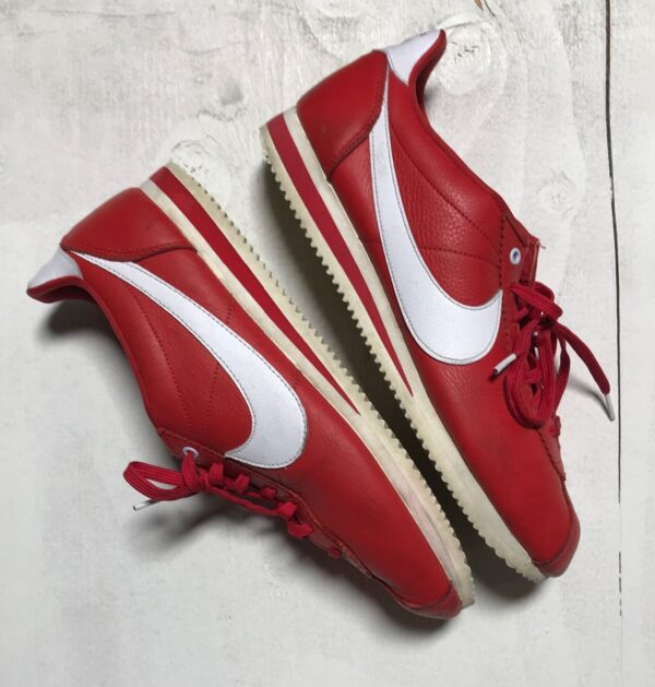 product details: NIKE X STRANGER THINGS CORTEZ IN RED OG COLLECTION INDEPENDENCE DAY 1985 NO BOX photo