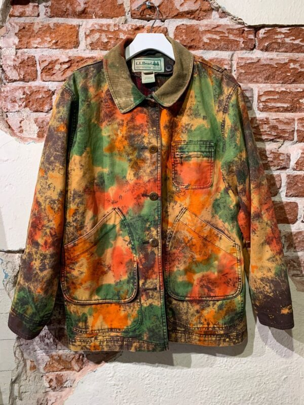 product details: RAD HEAVY CNAVAS WORKWEAR JACKET ALLOVER TIEDYE COLORING photo