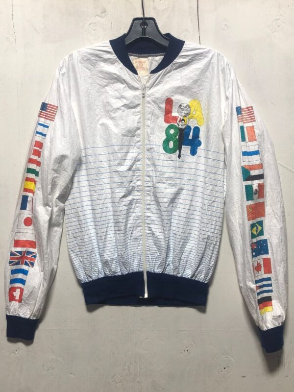 product details: RAD LOS ANGELES 84 SUMMER OLYMPICS TYVEC PAPER THIN  ZIP-UP JACKET photo