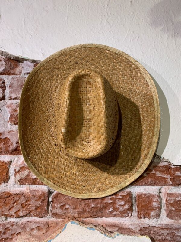 product details: NICE AND BASIC STRAW COWBOY HAT W/ SOLID BASIC FABRIC HAT BAND *SOFT photo