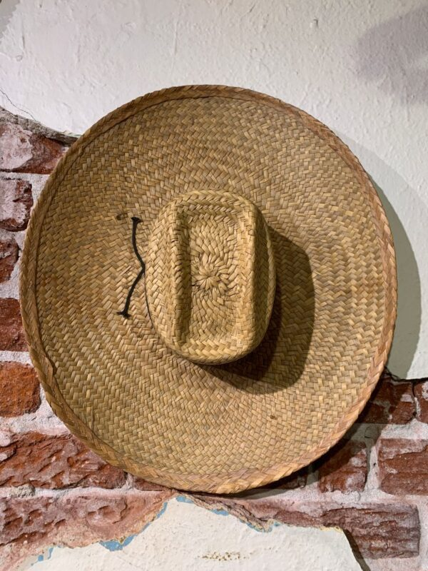 product details: SUPER WIDE BRIM WOVEN STRAW SOMBRERO STYLE HAT photo
