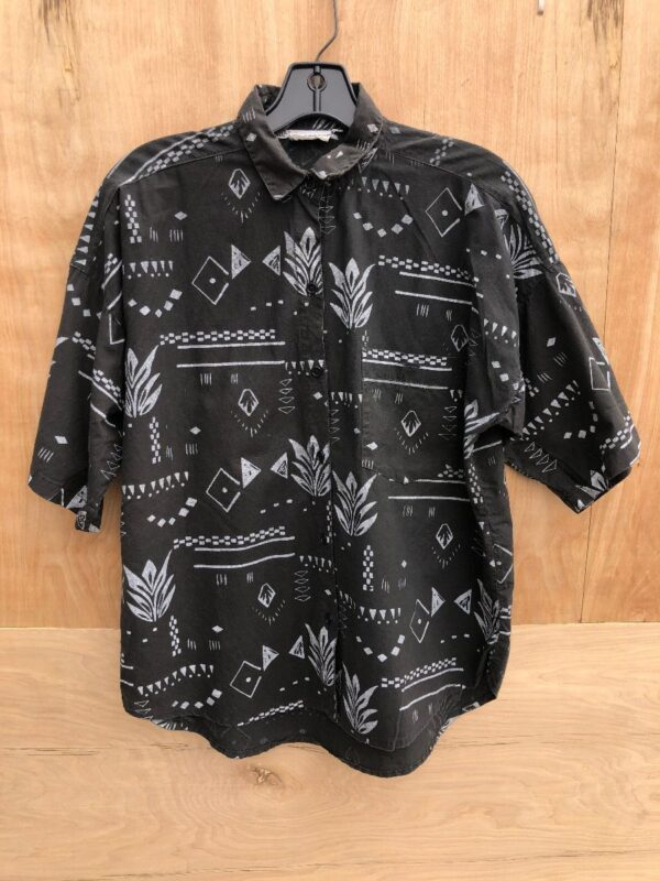 product details: COOL NATIVE DESIGN SS BD COTTON SHIRT WITH FRONT POCKET photo