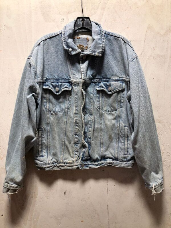 product details: AS IS- HEAVILY DISTRESSED 1980S CLASSIC GAP DENIM JACKET photo