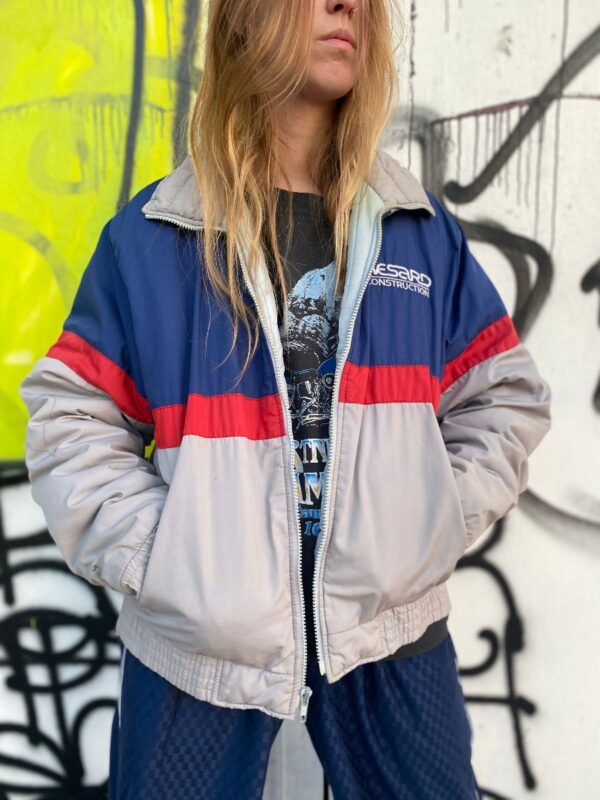 product details: WESARD CONSTRUCTION TRICOLOR WEATHERPROOF ZIP-UP QUILTED JACKET AS-IS photo