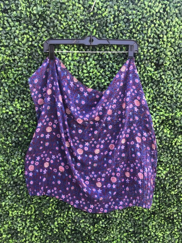 product details: PAPER THIN INDIA COTTON SHEER FLORAL FABRIC SCRAP BANDANA RAW EDGES photo