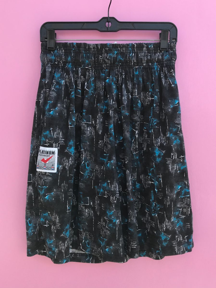 DEADSTOCK NWT 20S ABSTRACT BLUE SPOTTED SHORTS W/ POCKETS ...