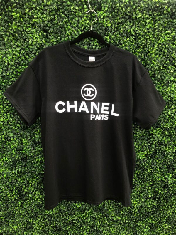 product details: BOOTLEG CHANEL GRAPHIC T-SHIRT photo