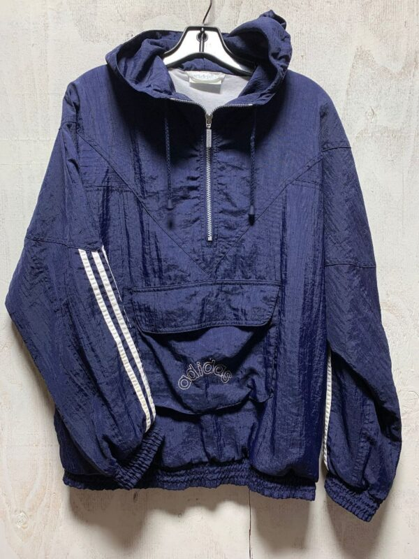 product details: HEAVYWEIGHT ADIDAS FRONTPOUCH HOODED WINDBREAKER JACKET photo