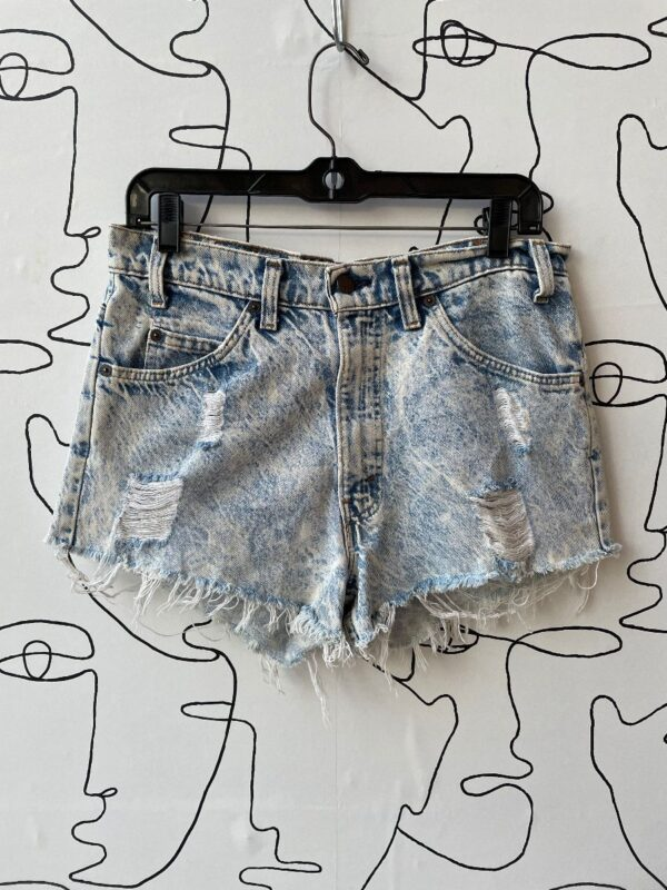 product details: LEVIS ACID-WASHED DISTRESSED CUTOFF SHORTS photo