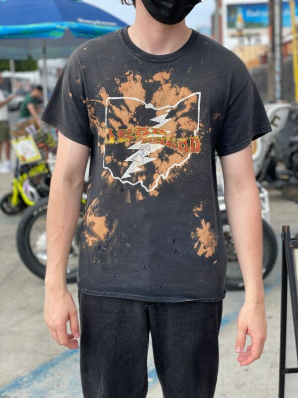 product details: PERFECTLY DISTRESSED BLEACHED OUT DISTRESSED DEAD HEAD ARKANSAS GRAPHIC T-SHIRT photo