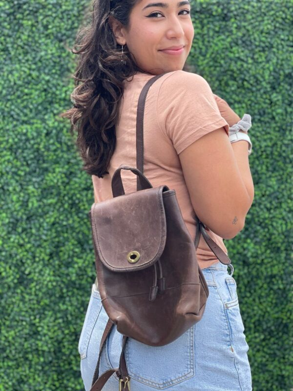 product details: ADORABLE COACH SUPER SOFT LEATHER MINI BACKPACK photo