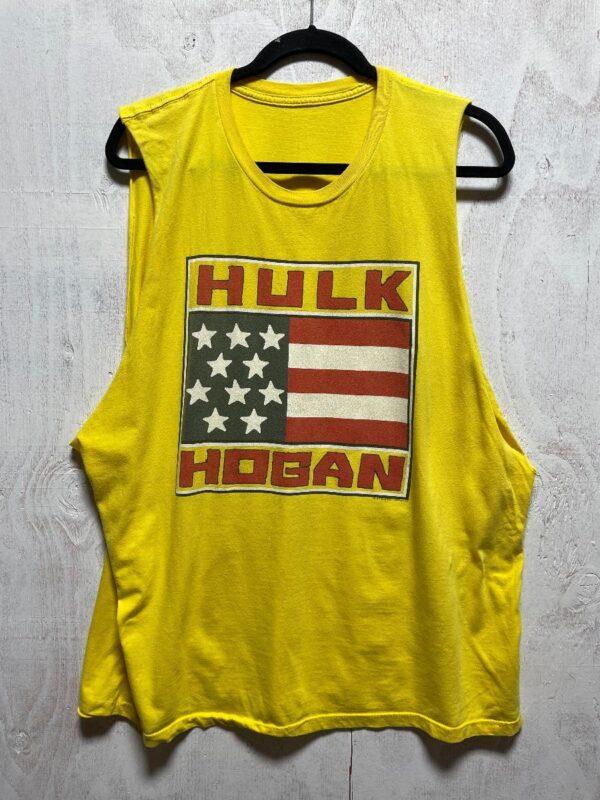 product details: HULK HOGAN AMERICAN FLAG GRAPHIC SLEEVELESS TEE photo