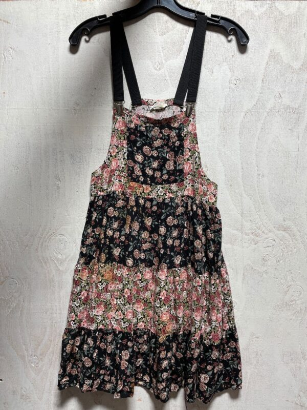 product details: ADORABLE OVERALL STYLE FLORAL PRINT MINI DRESS photo