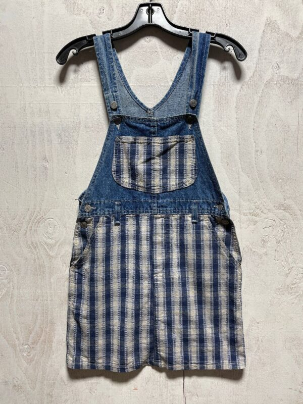 product details: ADORABLE SMALL FIT OVERALL DENIM PLAID DRESS photo