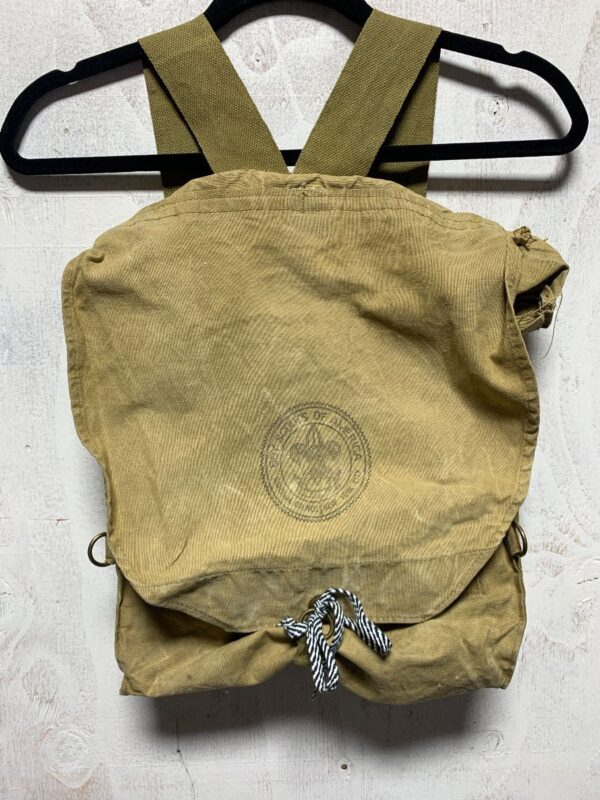 product details: BOY SCOUTS OF AMERICA CANVAS BACKPACK photo