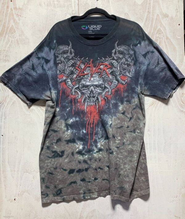 product details: AS IS- SLAYER SKULL RAM TIE-DYE photo