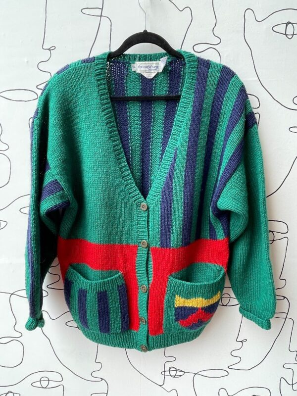 product details: 1980S-90S WOOL PRIMARY COLOR KNIT CARDIGAN photo