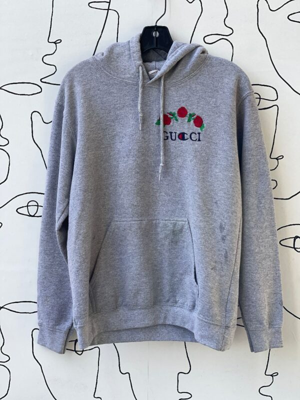 product details: AS-IS BOOTLEG GUCCI CHAMPION EMBROIDERED ROSE HOODED SWEATSHIRT photo
