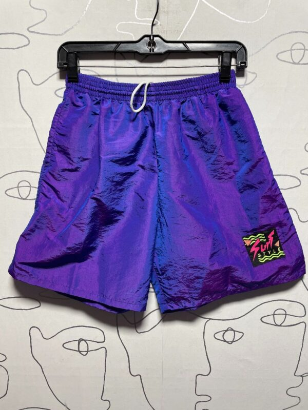 product details: 1990S SURF STYLE IRIDESCENT BOARD SHORTS photo