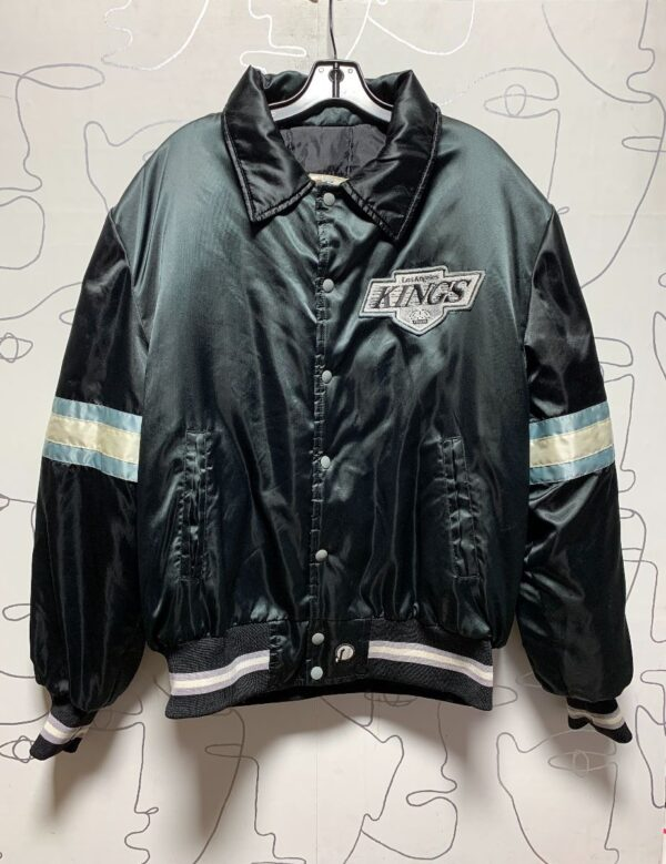 product details: AMAZING LOS ANGELES KINGS EMBROIDERED HEAVY DUTY BOMBER JACKET photo