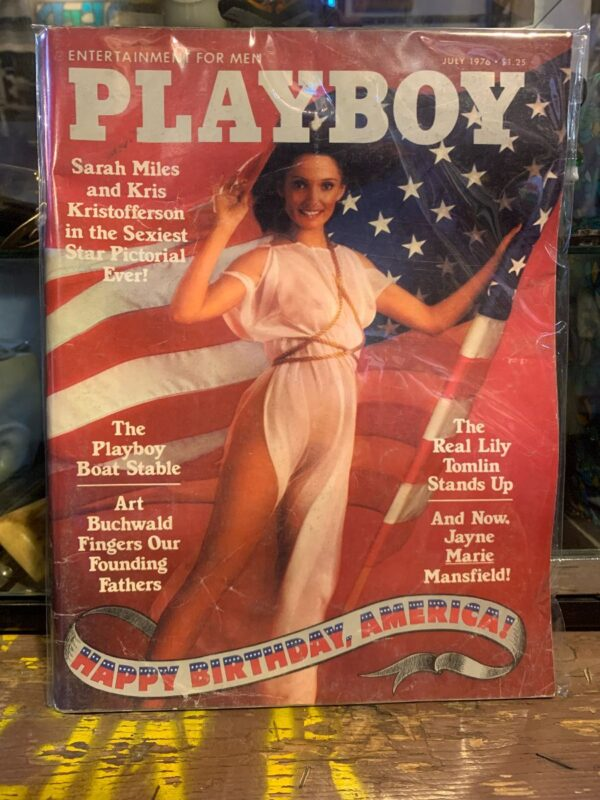 product details: PLAYBOY MAGAZINE   JULY 1976   4TH OF JULY SARAH MILES AND KRIS KRISTOFFERSON photo