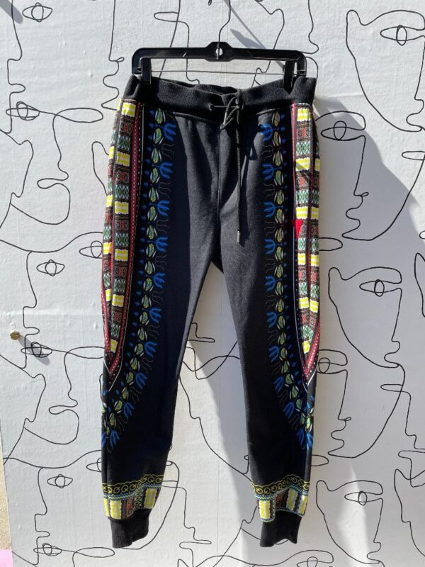 product details: DRAWSTRING SWEATPANTS COLORFUL FESTIVAL PATTERN WITH POCKETS photo