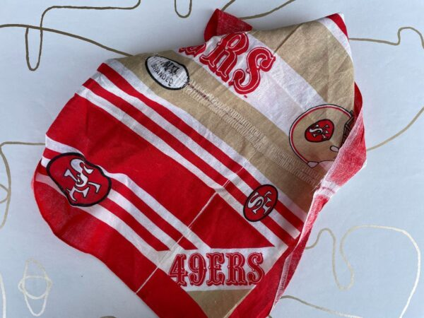 product details: NFL SAN FRANCISCO 49ERS STRIPED BANDANA AS-IS photo